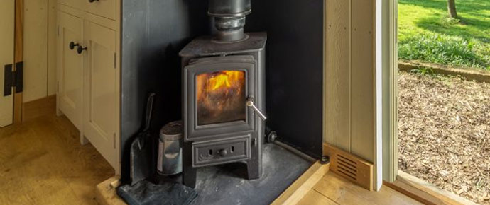 You'll stay warm and cosy with wood fired heating