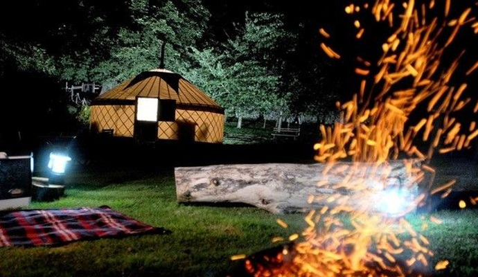 Enjoy starring at the stars whilst sitting by the warm firepit